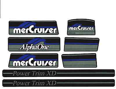 Mercruiser The New Blue  2016  Alpha One Gen.one Decals W/gray Rams Sticker Set