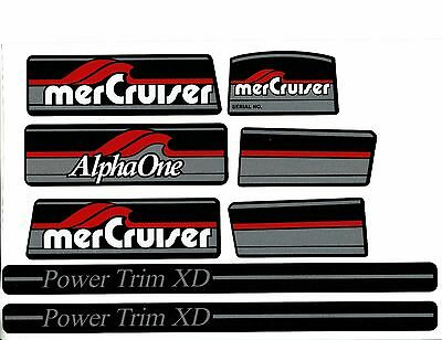 Mercruiser  Alpha One Gen. One Original Colors Decals  W / Gray Rams Sticker Set