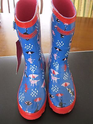 THOMAS COOK Girls Cats & Dogs Gumboots(Size 13)