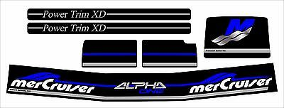 Mercruiser The New Blue 2016 Complete Set Alpha One Gen.2 Decals W/gray Rams