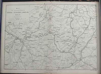"Antique Map: Franco-Prussian War ""General Faidherbes Campaign  1870-71"", 1875"