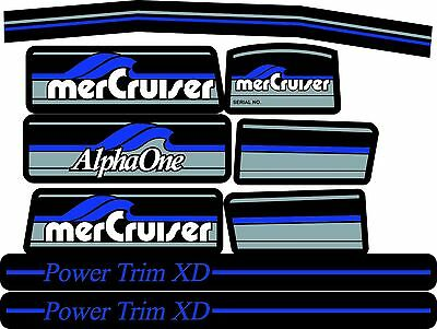 Mercruiser The Most Complete Blue Alpha One Gen.1 Decals W/blue Rams Sticker Set