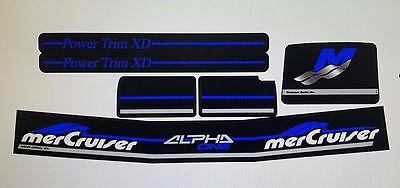 Mercruiser The New Complete Blue Alpha One Gen.2 Decals W/blue Rams Sticker Set