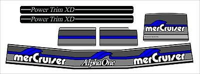 Mercruiser The New Blue 2017  Alpha One Gen.two Decals  W/ Gray Rams Sticker Set