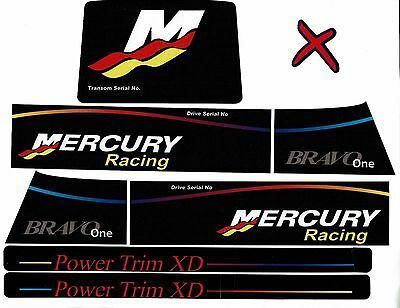 Mercruiser The New 2016 Bravo One Racing X Style Decals  W / Rams Sticker Set