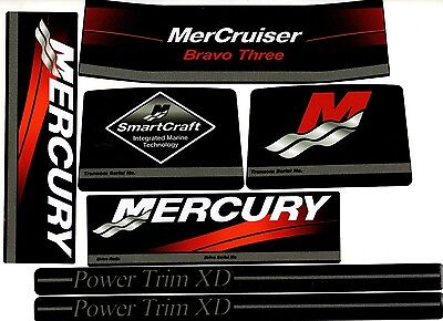 Mercruiser  Bravo Three Decals  W /gray Rams Sticker Set