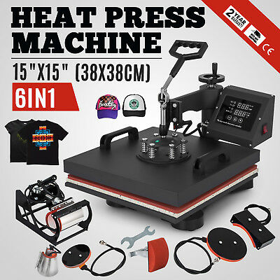"15""x15"" T-Shirt Heat Press Transfer 6IN1 Combo Printing Sublimation DIY Printer"
