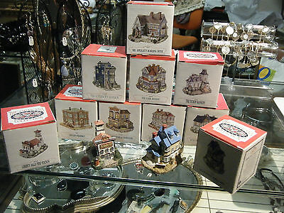 Lot of 10 NEW Vintage Liberty Falls Americana Collection Buildings