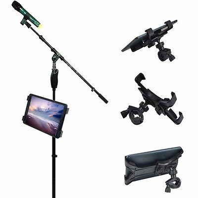 """New Bike Motorcycle 7""""-10"""" Tablet Stand Support Holder Mount Bracket For PC iPad"""