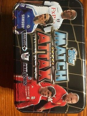 Match Attax Trading Card Game Tin and Cards 2011/ 2012