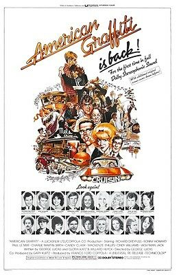 American Graffiti POSTER Ron Howard Harrison Ford Hot Rod Muscle Car Greasers