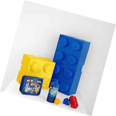 Lego Storage Brick 4 Yellow  Lunch Box Container For Stacking Fun, Easy Tidy Up