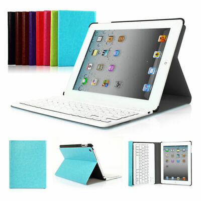 Slim Bluetooth Keyboard With PU Leather Case Cover For Apple iPad 4 3 2