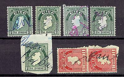 UK Great Britain Revenue Fiscal Tax stamps Eire Ireland postal - fiscally used