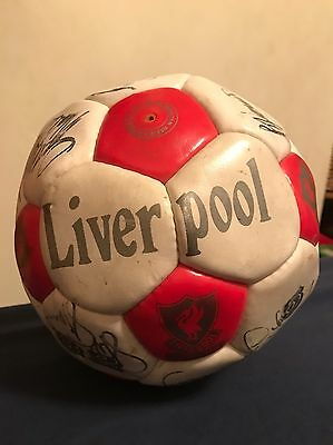 Extremely Rare Nostalgic Signed 1990s Liverpool FC Football