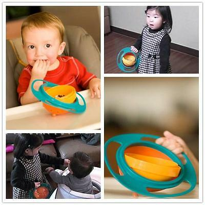 Baby Toddler Children Non Feeding Gyro Bowl Dishes Rotating Food Spilling