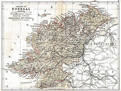 Three antique maps of County Donegal & Ireland & an Ulster fact sheet.
