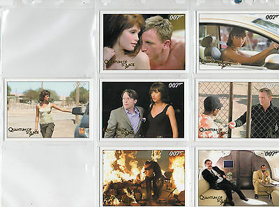 James Bond Archives 2015 - Lot Of 7 Quantum Of Solace Gold Parallel Cards NM