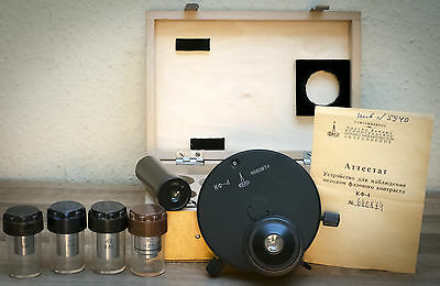 Microscope Phase Contrast Kit KF-4 Condenser 4 special objectives, eyepiece LOMO