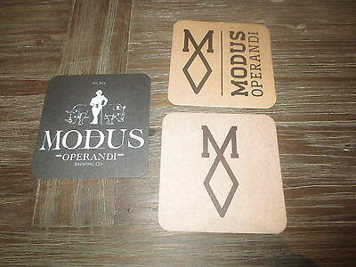 3 different MODUS OPERANDI Micro Brewery ,Sydney N.S.W.  BEER COASTERS