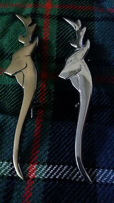 "New Scottish Kilt Pin Stag Head Antique Finish Various Design 4""/Highland Pins"