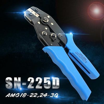 EU Type Pin Crimping Tool Mini-type Crimping Pliers Wire Crimper AWG18-22,24-30
