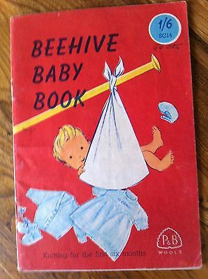 """Vintage 1950's Beehive Baby Book """"Knitting for the first six months"""""""