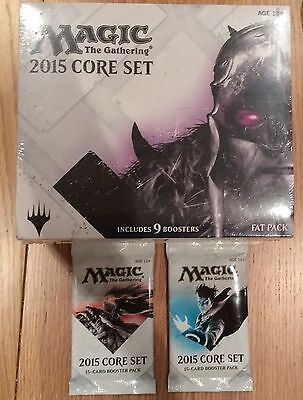 Magic the Gathering 2015 core set fat pack +2 booster packs