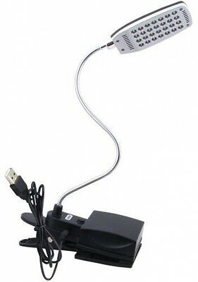Daffodil ULT300 - USB and Battery Powered Desk Light - Reading Lamp with Desk /