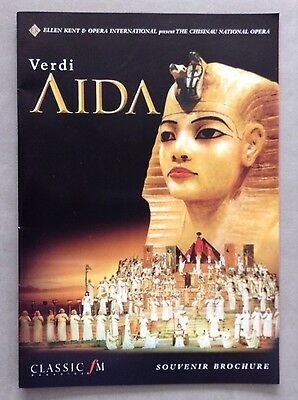 Souvenir Brochure of Aida (also of Norma) - The Chisinau National Opera