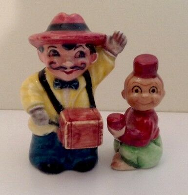 Organ Grinder And Cup Monkey Salt And Pepper Shakers Japan, 1950's