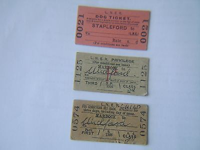 used old railway tickets
