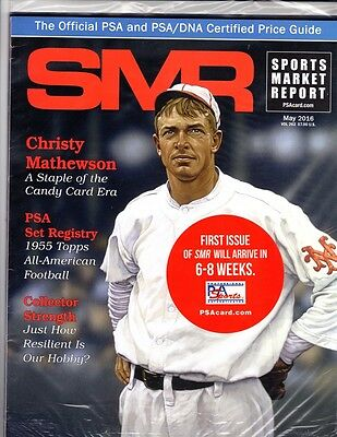 PSA SMR Sports Market Report SEALED UNOPENED May 2016 Christy Mathewson on Cover