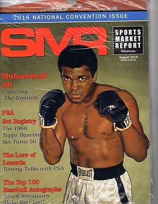 PSA SMR Sports Market Report SEALED UNOPENED August 2016  Ali on Cover