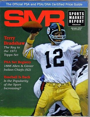 PSA SMR Sports Market Report SEALED UNOPENED January 2017 Bradshaw on Cover