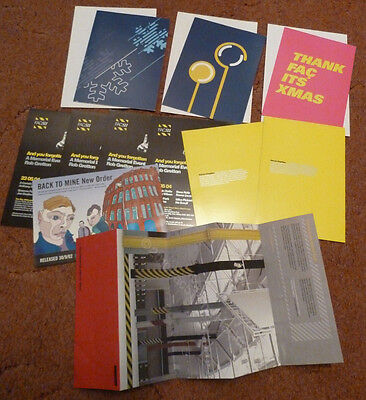 HACIENDA Official LOT  Cards Flyers.. NEW ORDER Joy Division Manchester Factory