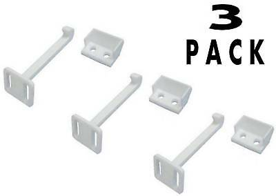 3 PACK Child Baby Proof Cupboard Cabinet Door Drawer Safety Catch Lock - W329