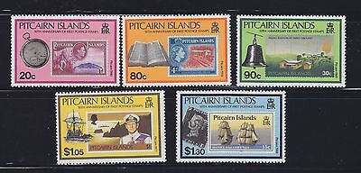 Pitcairn Is,1990 Stamps on stamps Scott 338-42 MNH Lot 6451