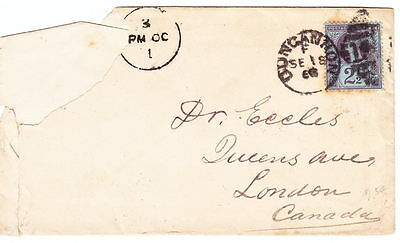 QV, SG 201 on cover, 1888, to Canada Lot 5349