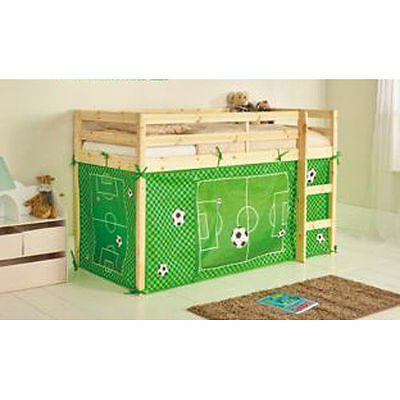 Football Tent for Shorty Midsleeper Bed - Boys Bedroom Green - New