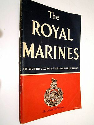Ww11 Navy Royal Marines Official Wartime Publication, Very Well Illustrated