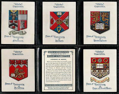 "Wills 1923 Interesting ( Arms ) Full 25 Card Set "" Arms Of Universities """