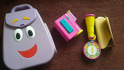 Dora the Explorer talking backpack with accessories