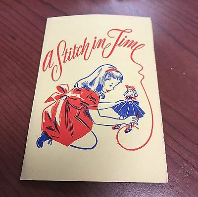 Vintage 'A Stitch in Time' Colonial Life Needle Book