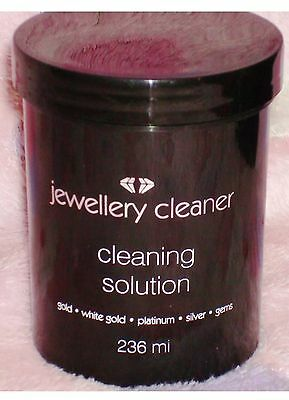 Jewellery Cleaner Cleaning Solution for Gold, White Gold Silver,Platinum & Gems.