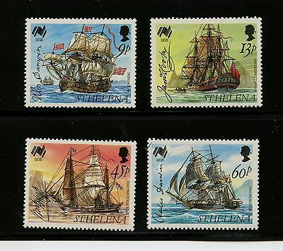 St Helena #493-496 (ST775) Complete 1988 ships & signatures, MNH, VF