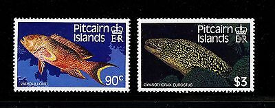 Pitcairn Islands #295-296 (PI795) Complete 1988 Fish, Perf 14 1/2, MNH,VF