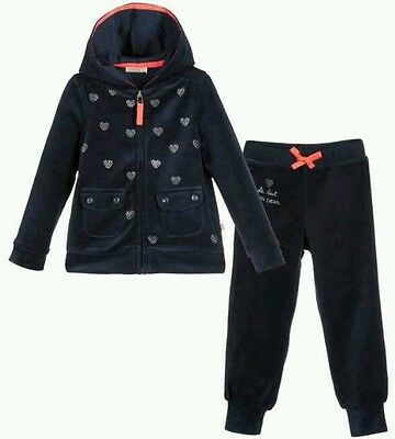 Billieblush Girls Navy Velour Tracksuit Hoody Jogging Trousers Age 2 Rrp £49