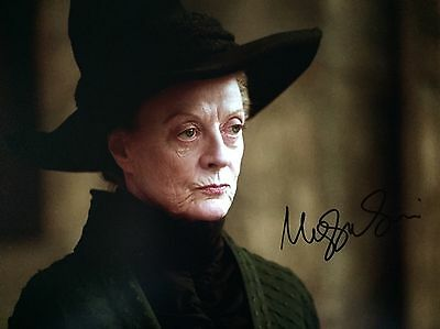 (Harry Potter) Maggie Smith Original Hand signed photo 12x8 with COA