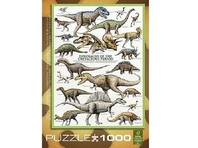 Eurographics 1,000 Piece Jigsaw Puzzle - Dinosaurs Of The Cretaceous Period